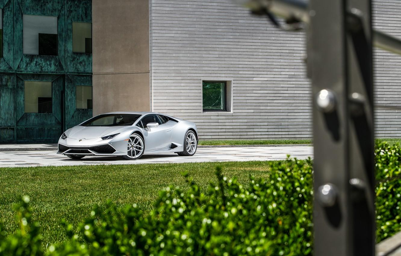 Photo wallpaper Lamborghini, lawn, Huracan