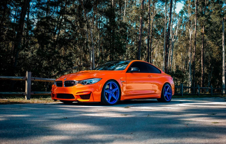 Photo wallpaper BMW, Orange, Wheels, Incurve, LP-5