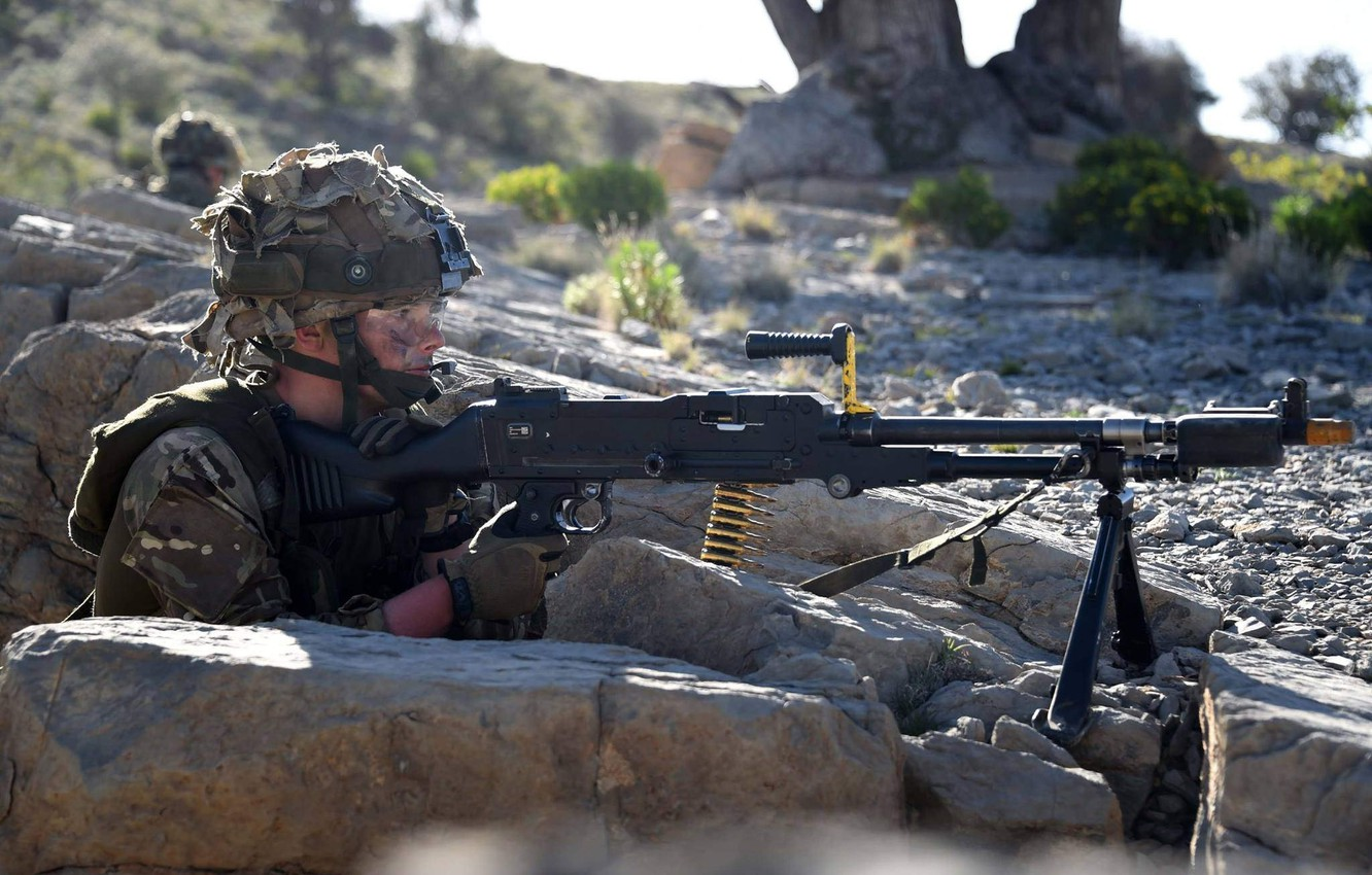 Photo wallpaper weapons, soldiers, British Army