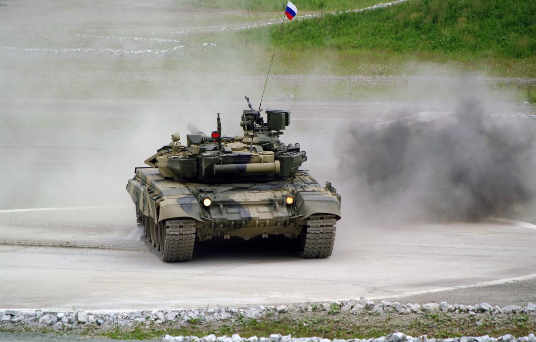 Photo wallpaper tank, polygon, t-90