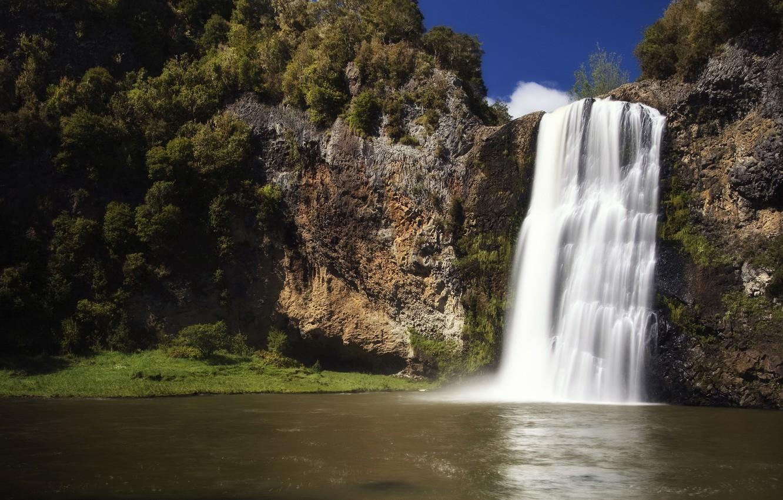 Photo wallpaper Waterfall, New Zealand, Hunua Falls