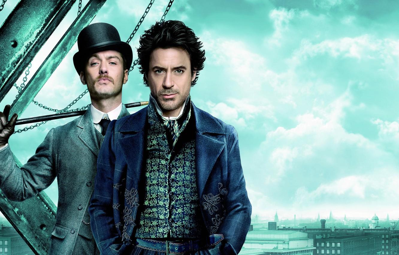 Wallpaper London Hat Cane Sherlock Holmes Jude Law Jude Law