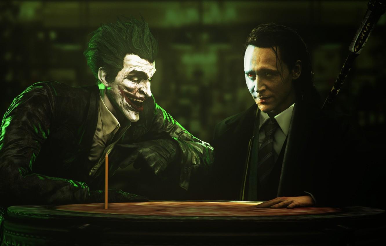 Photo wallpaper joker pencil trick tom hiddleston loki god