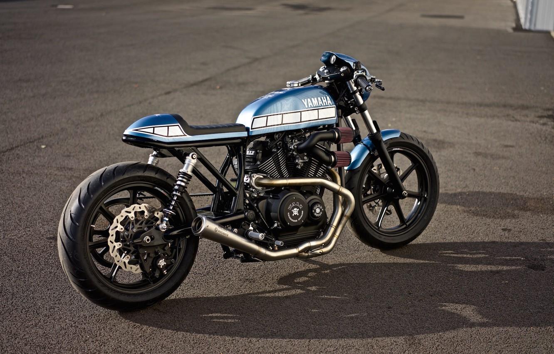 Photo wallpaper Yamaha, Custom, Motorbike