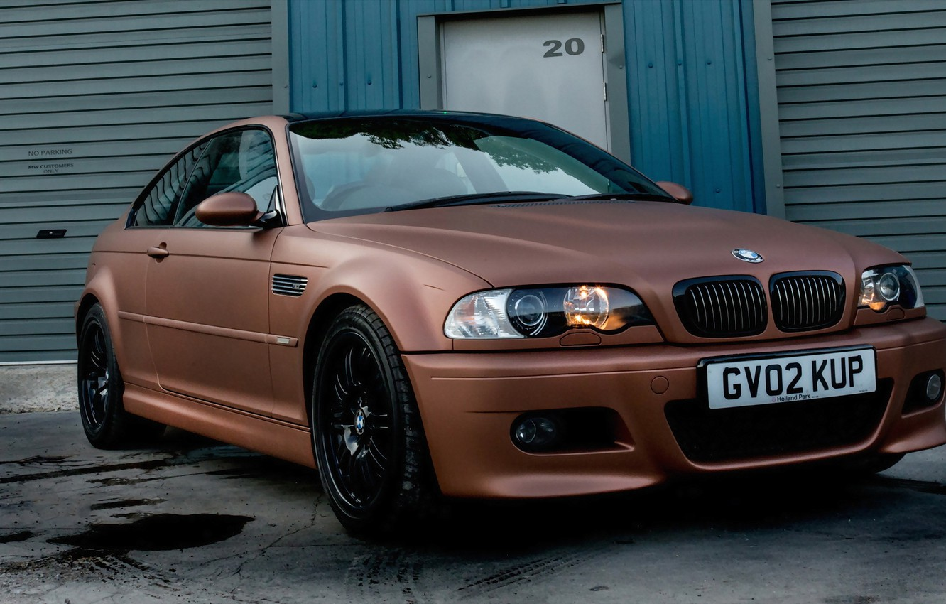 Photo wallpaper BMW, brown, Matte, E46, full, metallic, wrap