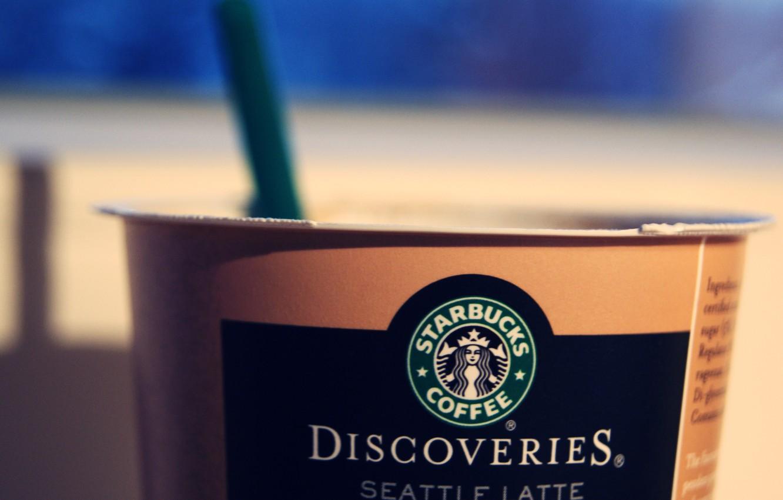 Photo wallpaper coffee, logo, Cup, starbucks