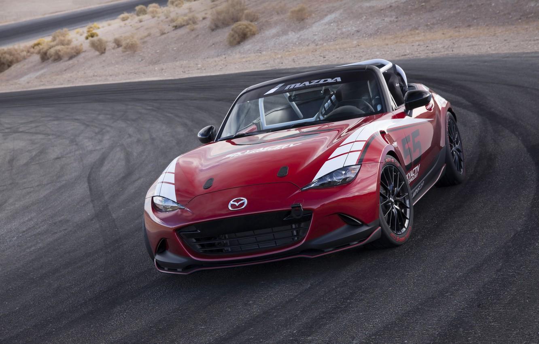 Photo wallpaper Mazda, Global, MX-5, 2016, Cup Racecar