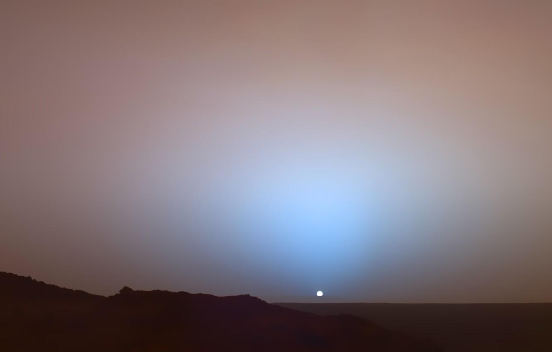 Photo wallpaper sunset, The sun, Mars, Opportunity