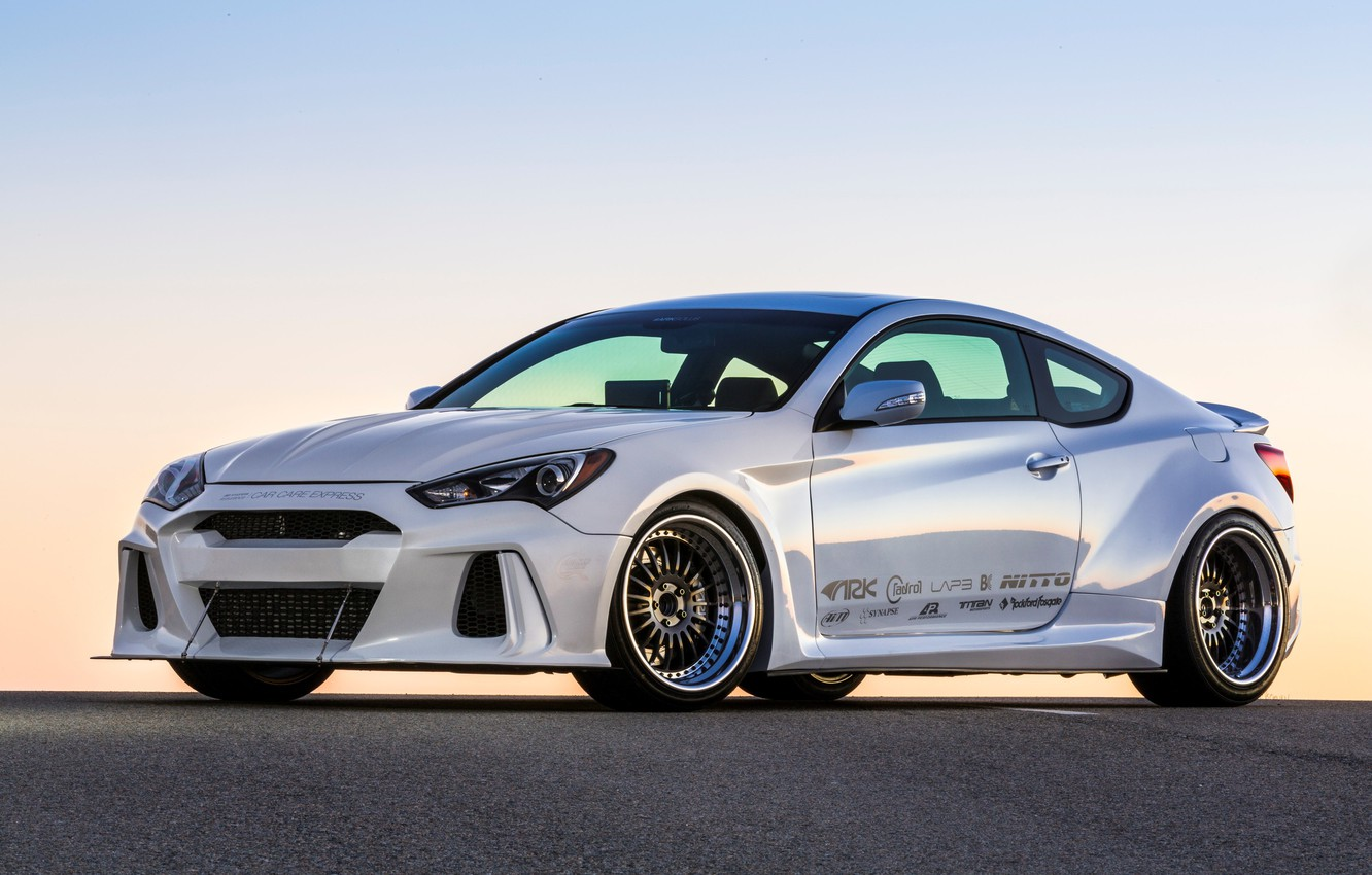 Photo wallpaper view, Hyundai, Coupe, Genesis, ARK Performance