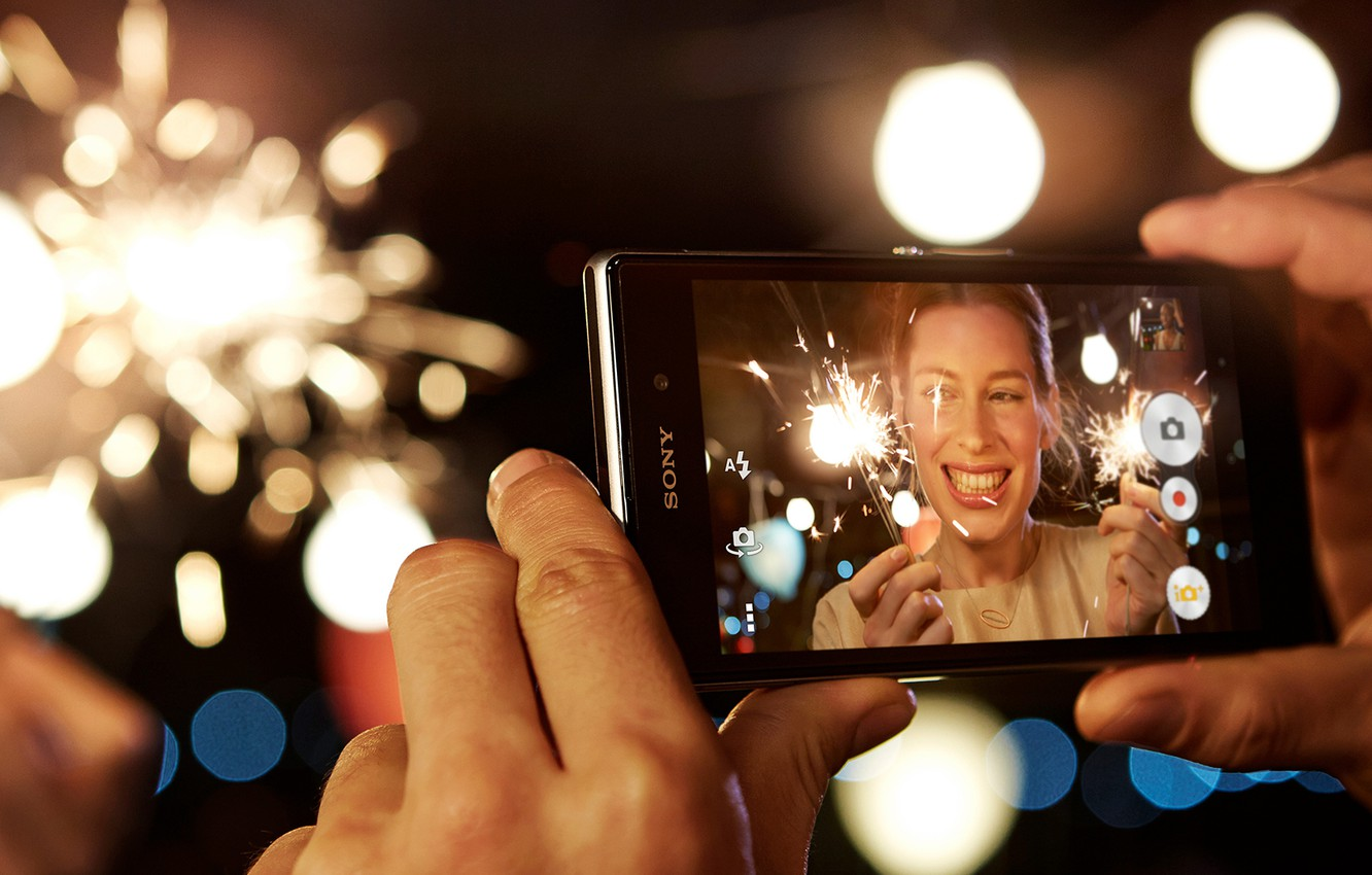 Wallpaper Girl Lights Hands Sony Photo Xperia Z1 Images For