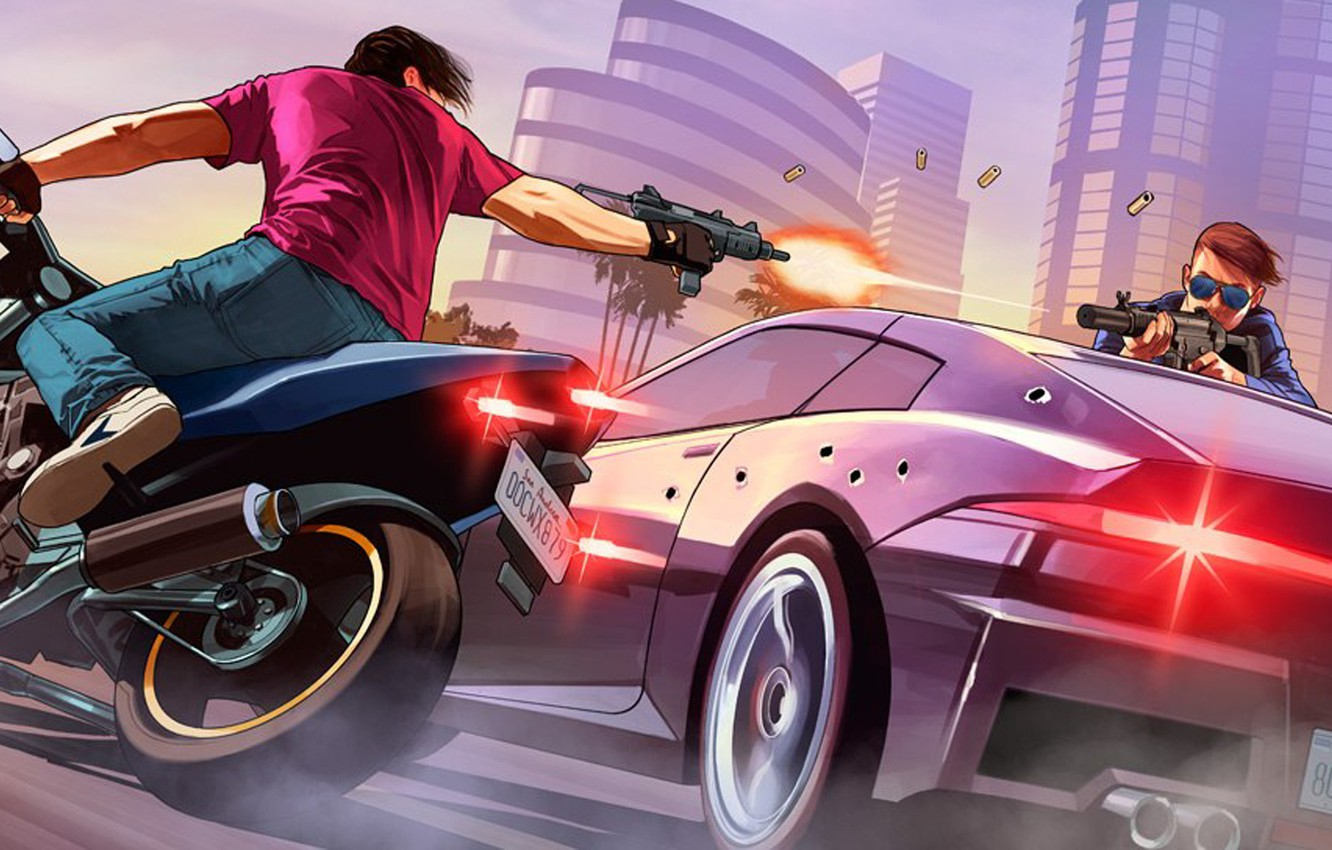 Wallpaper Grand Theft Auto V, Rockstar Games, GTA Online