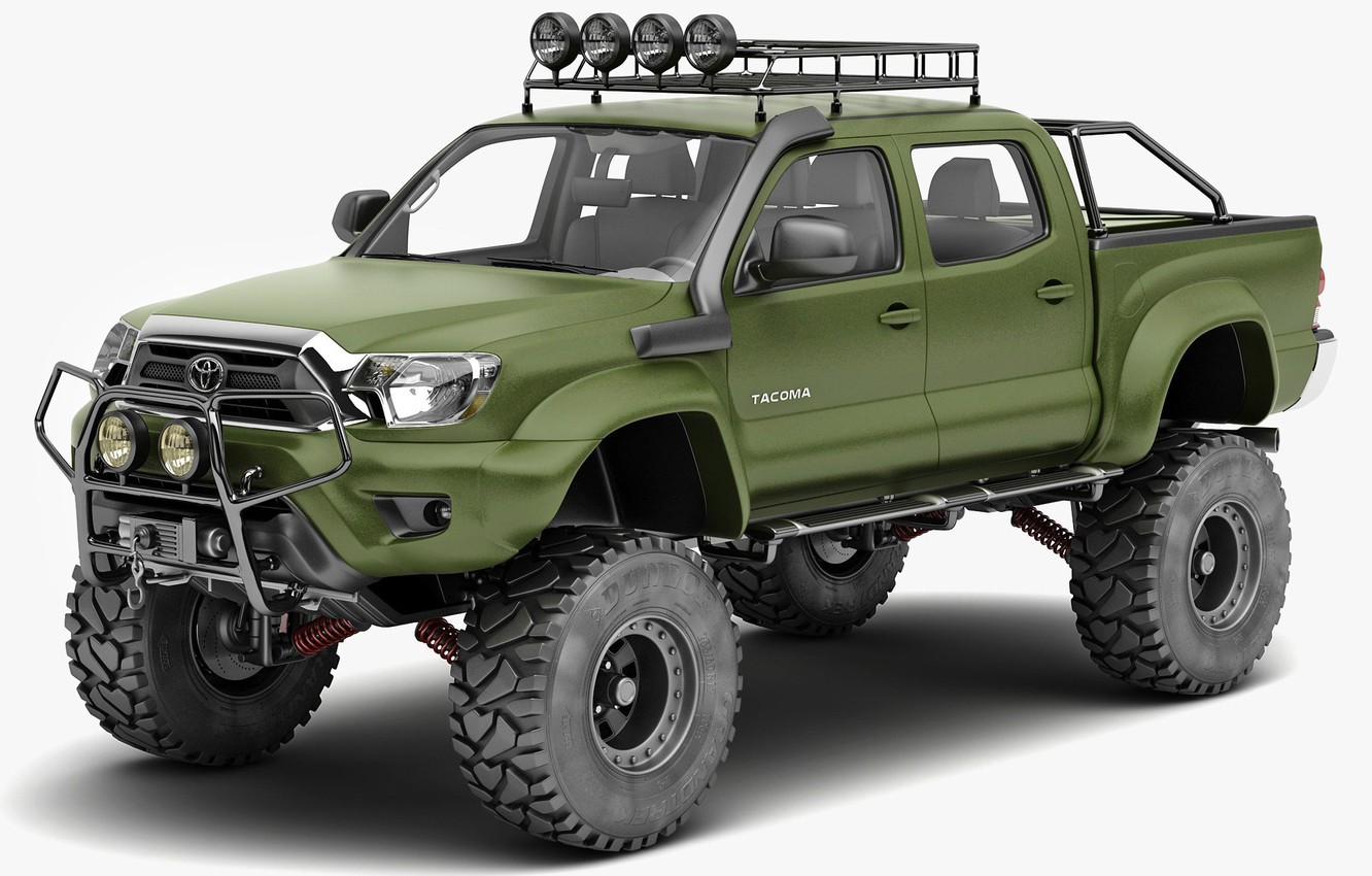 Wallpaper Green 4x4 Special Edition Pickup Toyota Tacoma