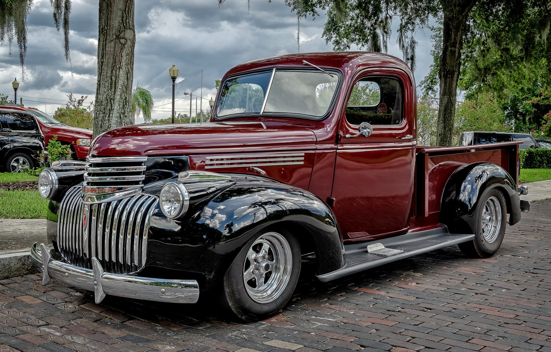 Photo wallpaper retro, Chevrolet, classic, pickup, the front
