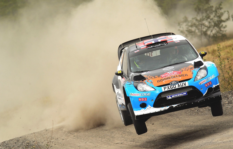 Photo wallpaper Ford, Auto, Dust, Sport, Machine, Speed, Ford, Race, The hood, WRC, Rally, Rally, Fiesta, Fiesta, …