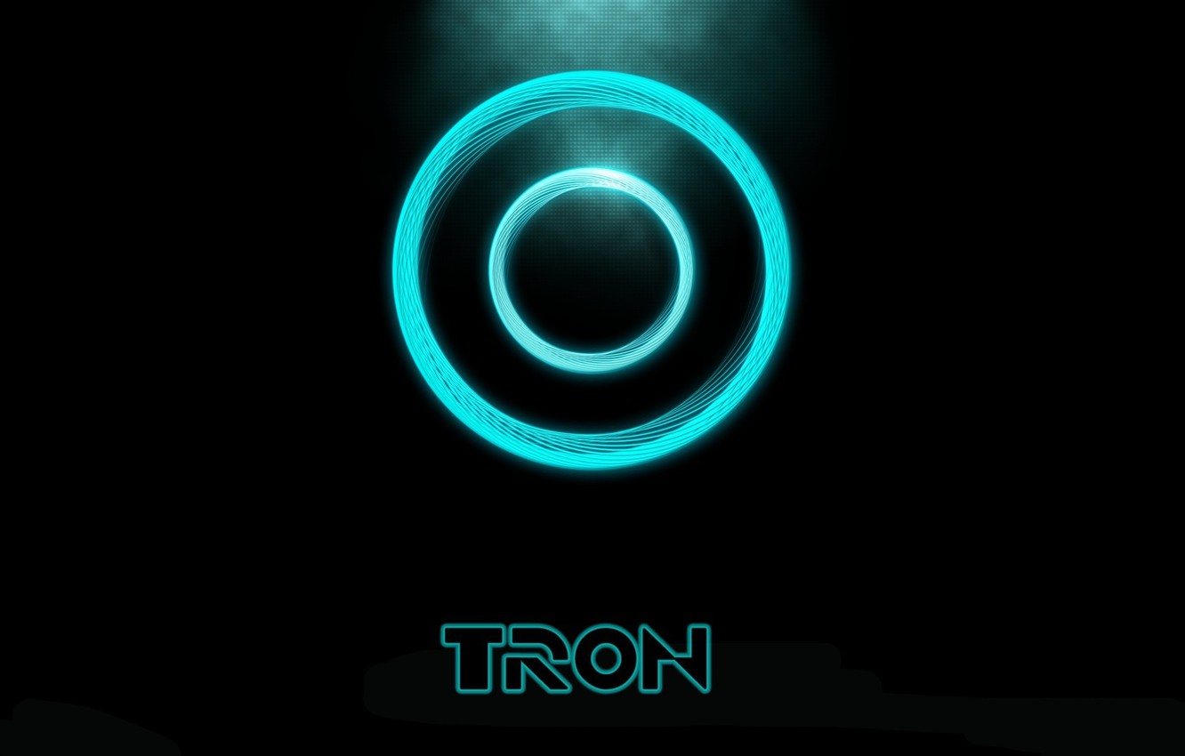 Photo wallpaper disk, the throne, Tron:Legacy