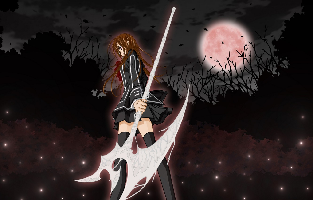 Photo wallpaper girl, the moon, anime, Vampire Knight, knight-vampire, yuki, Yuki