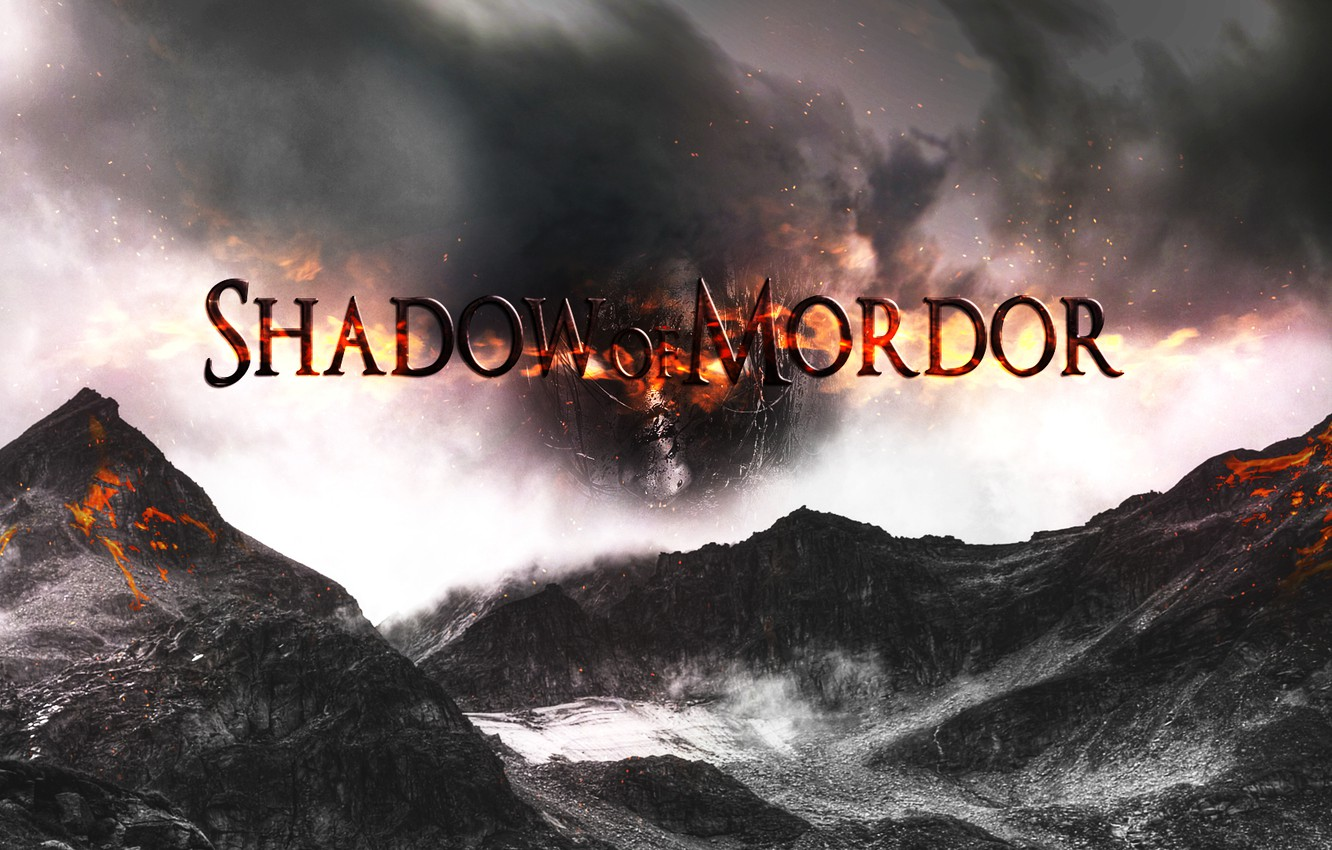 Photo wallpaper dark, Shadowof Mordor, mordor