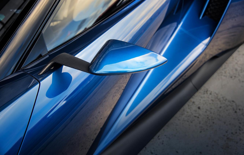 Photo wallpaper car, auto, Ford, mirror, carbon, carbon, macro