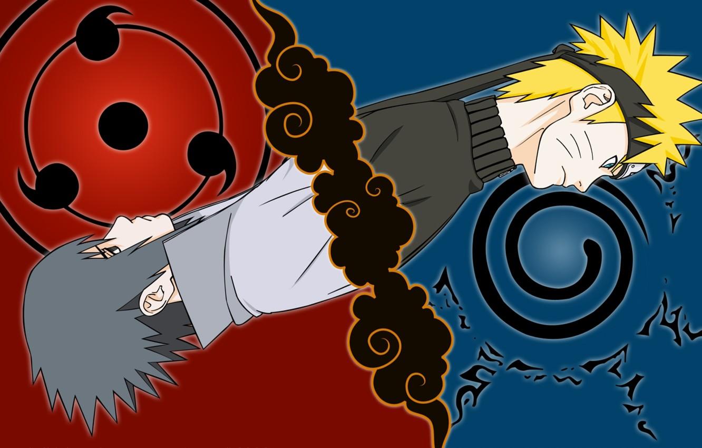 Photo wallpaper Anime, uchiha sasuke, naruto Uzumaki