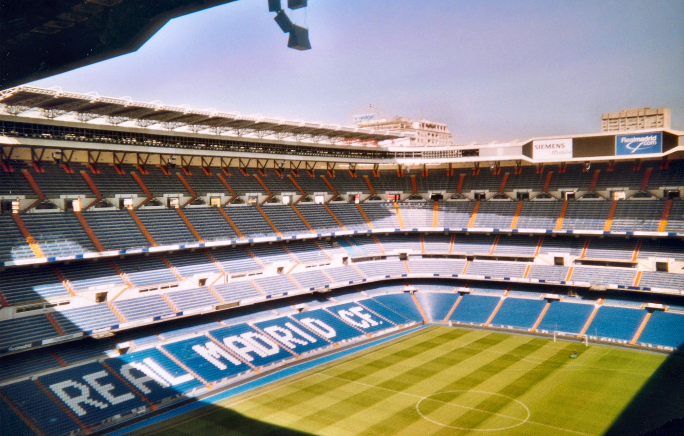 Photo wallpaper Spain, stadium, Santiago Bernabeu, Spain, Real Madrid, Real Madrid