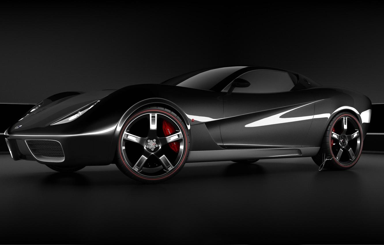 Photo wallpaper black, Corvette, Z03