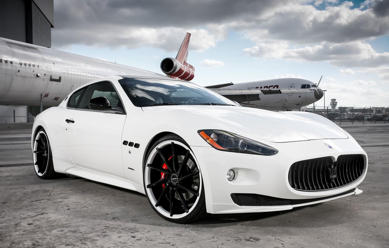Photo wallpaper Maserati, white, Granturismo, Vossen