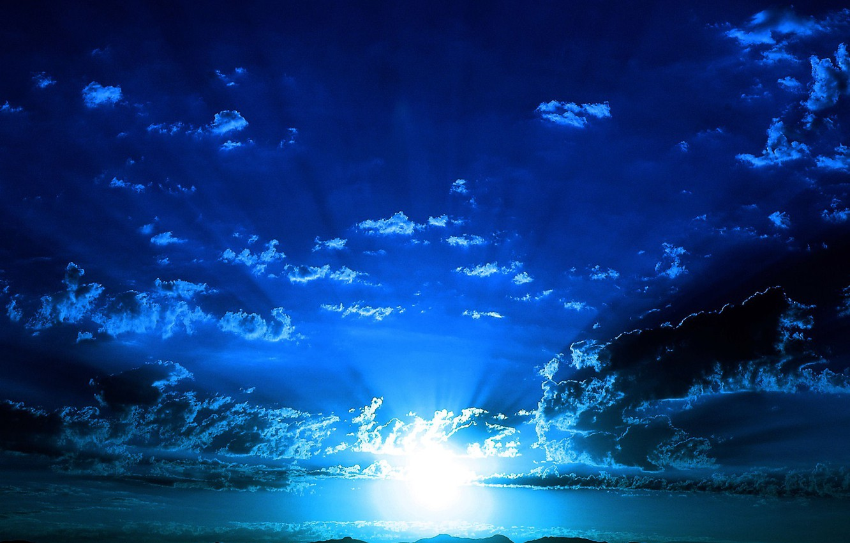Photo wallpaper sea, the sky, light
