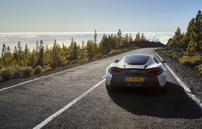 Photo wallpaper road, McLaren, car, rear view, beauty, McLaren, 570GT