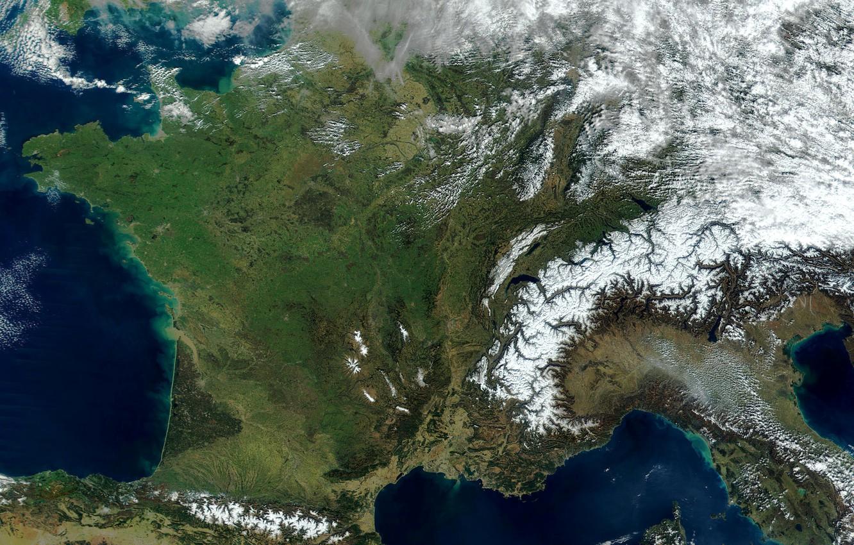 Photo wallpaper photo, France, Earth, Europe, NASA