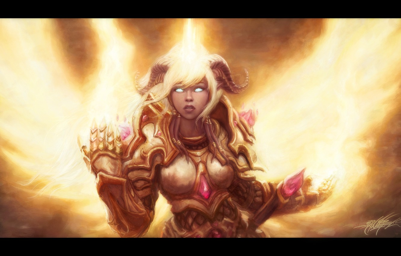 Wallpaper Draenei Wow World Of Warcraft Paladin Yrel Drenaka