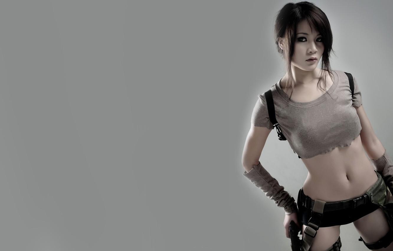 Photo wallpaper game, lara croft, tomb raider, girls, model, beauty, women, cosplay