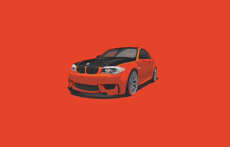 Wallpaper BMW, Orange, Car, Minimalistic images for ...