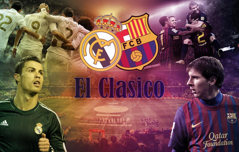 Photo wallpaper real madrid, football, ronaldo, lionel messi, messi, barcelona, c.ronaldo, the classic