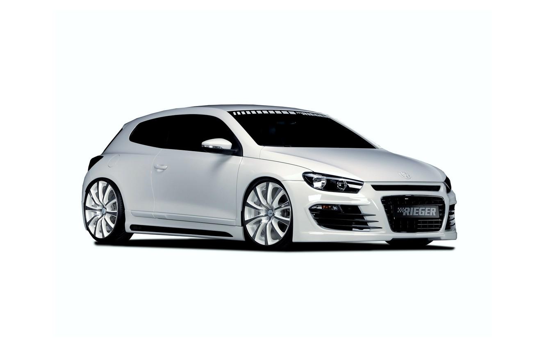 Photo wallpaper white, tuning, Volkswagen, Volkswagen, Scirocco, 2013, Rieger, Sirocco