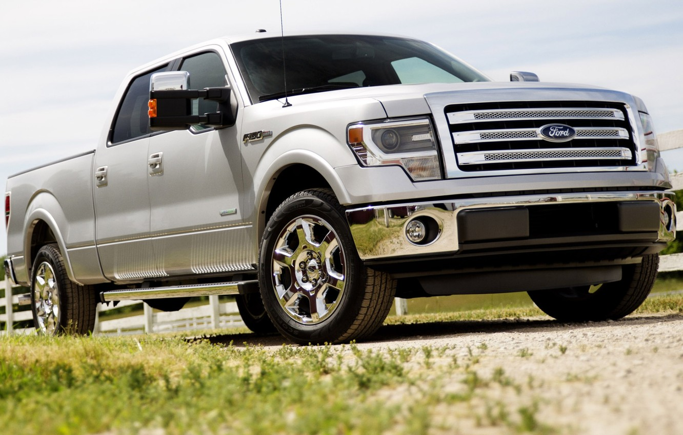 Photo wallpaper Ford, Ford, jeep, pickup, the front, F-150, Double Cab, Lariat, F-150
