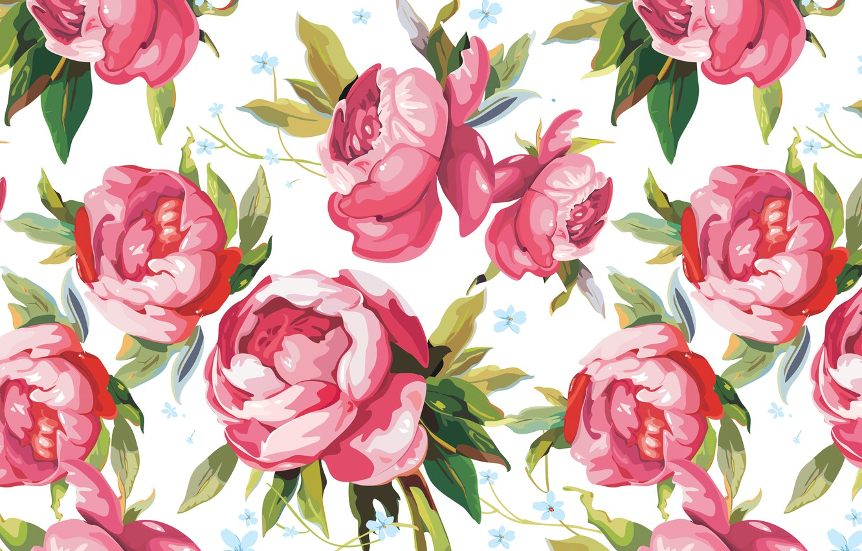 Photo wallpaper figure, petals, art, buds, peonies