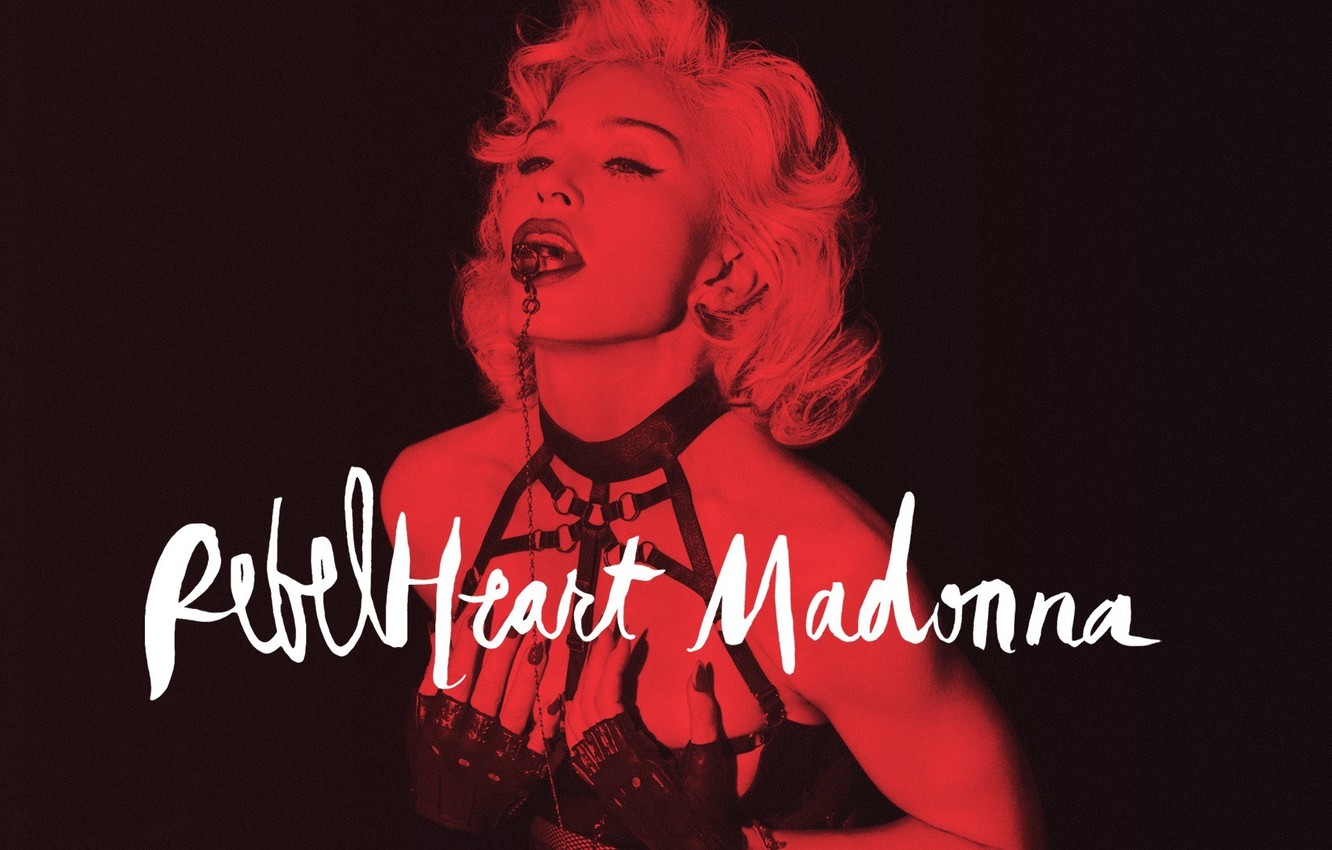 Wallpaper Red Madonna Sexy Heart Rebel Rebel Heart