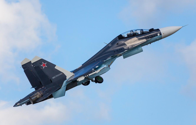 Photo wallpaper the sky, fighter, multipurpose, double, Su-30CM
