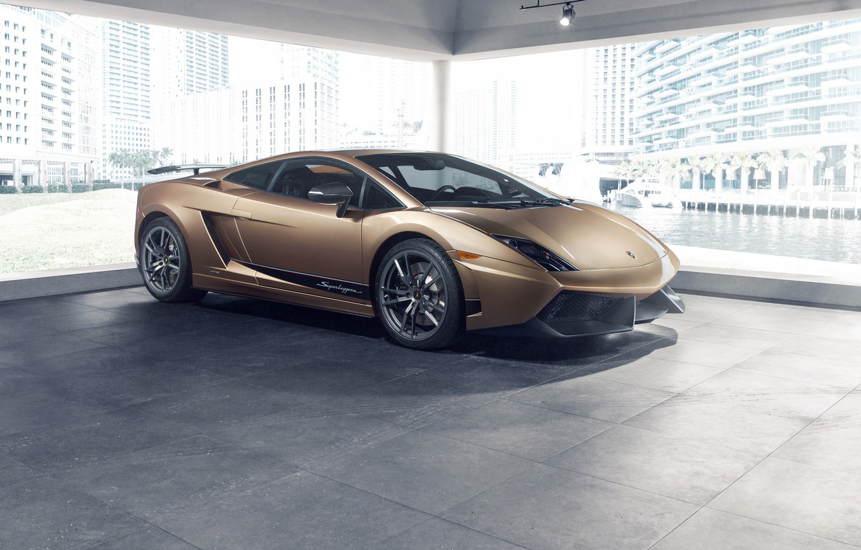 Photo wallpaper Lamborghini, Superleggera, Gallardo, Colors, LP570-4, Prestige, Oro Elios