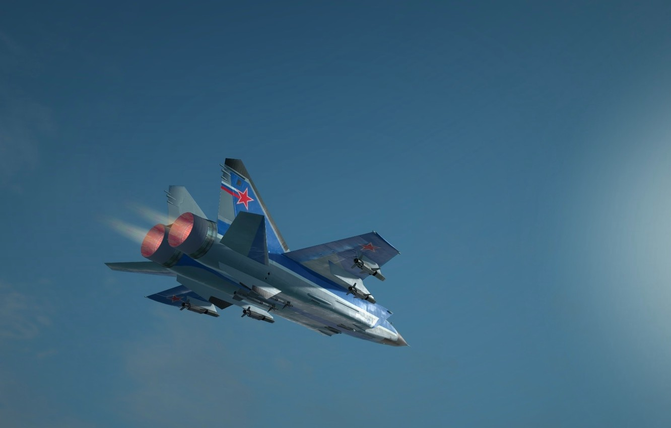 Photo wallpaper flight, height, wings, Fighter, Engine, Russia, the plane, aircraft, military, BBC, flight, wings, military, interceptor, ...