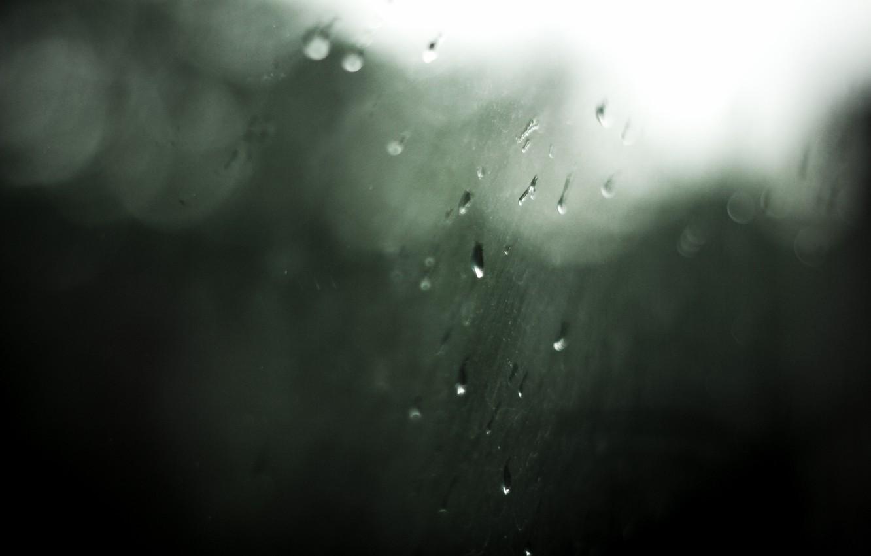 Photo wallpaper drops, nature, rain, minimalism, window, weather, bokeh