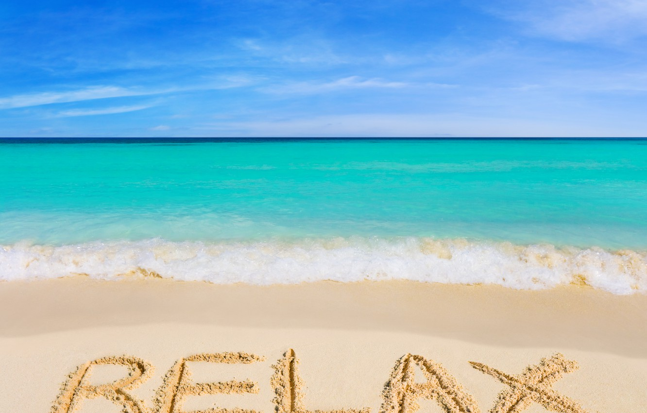 Photo wallpaper beach, nature, the ocean, the inscription, view, relax