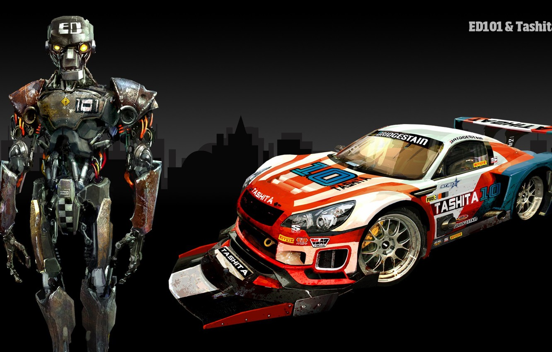 Photo wallpaper Car, Cyborg, Tashita, Carmageddon Reincarnation Обои, ED101