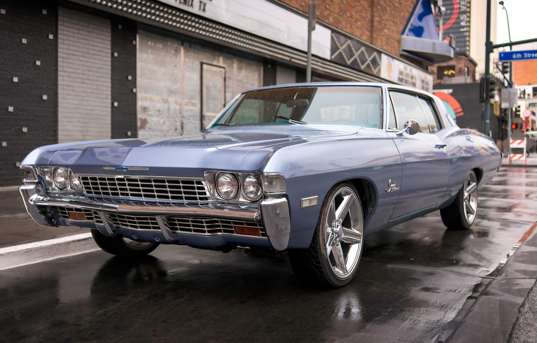 Photo wallpaper retro, Chevrolet, classic, Chevy, the front, Impala