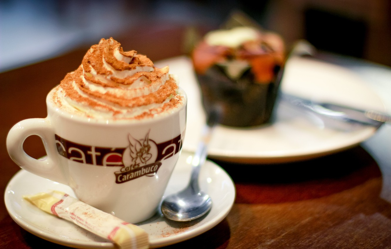 Photo wallpaper coffee, day, cafe, dessert, coffee, dessert, cafe, afternoon
