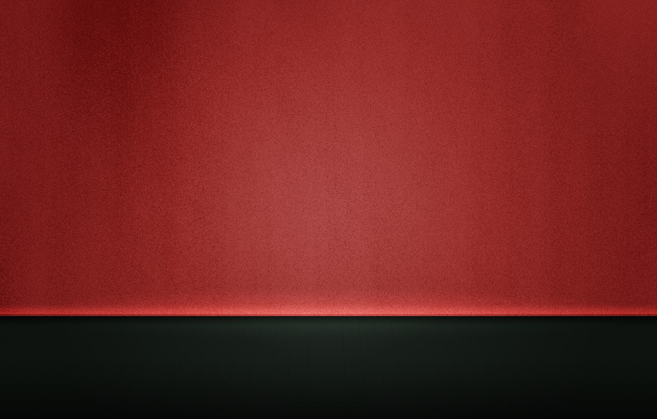 Photo wallpaper Wall, Tile, Floor, Floorboard, Wall, Red