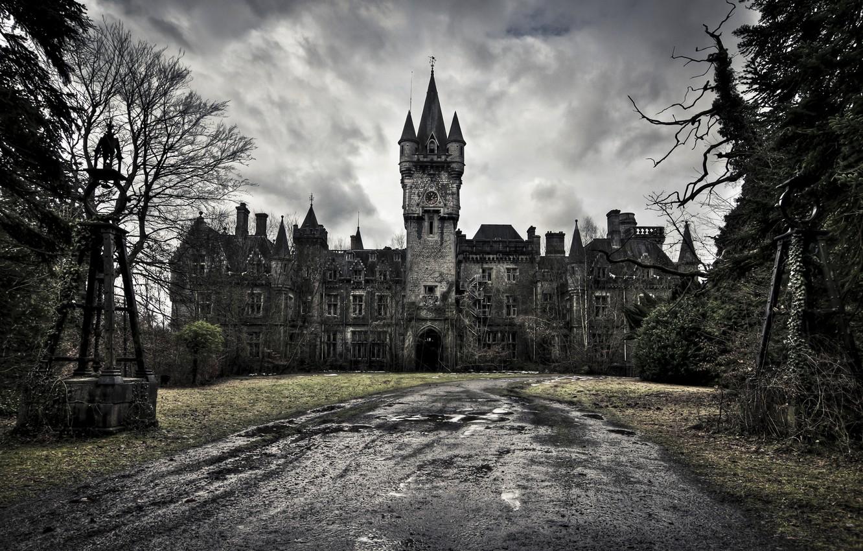Photo wallpaper castle, Castle of Decay, dark