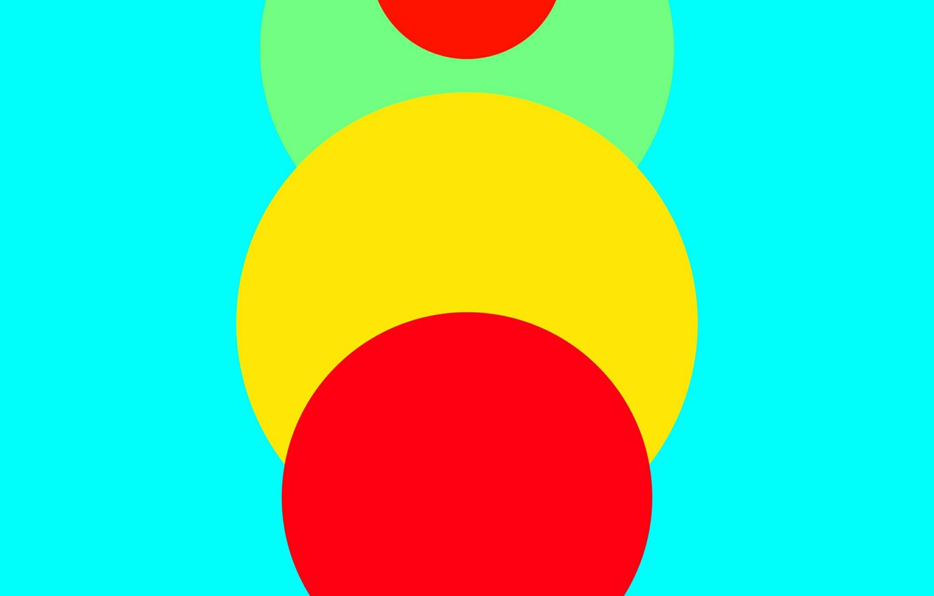 Photo wallpaper Android, Red, Circles, Blue, Green, Design, 5.0, Line, Yellow, Lollipop, Abstraction, Material