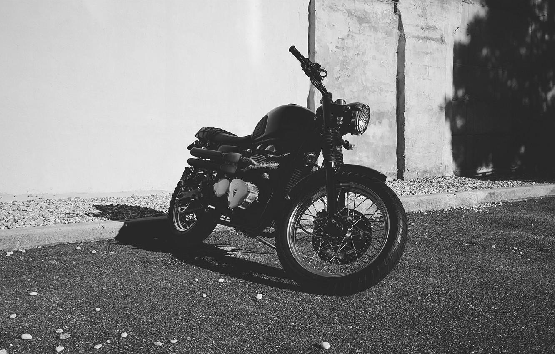Photo wallpaper motorcycle, shadow, motorbike