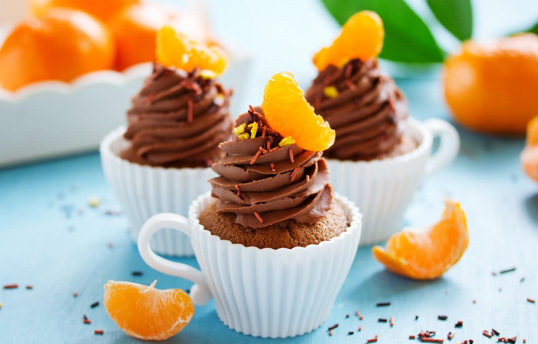Photo wallpaper food, chocolate, cake, cake, dessert, food, sweet, chocolate, cupcakes, cream, cakes, dessert, cakes, muffins
